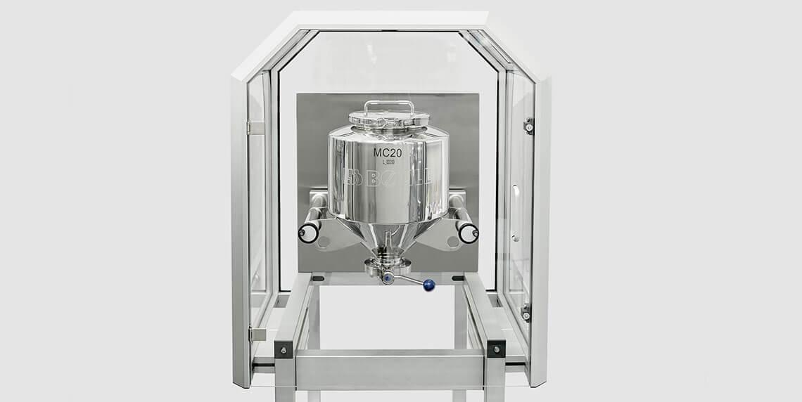 Смешивание: Контейнерный смеситель для производства твердых фармацевтических веществ